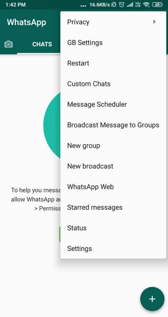 Home Page Of GB WhatsApp For Post Visitors To Understand Post Easily