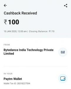 Paytm Earning App With Proof   Play And Earn Paytm Cash