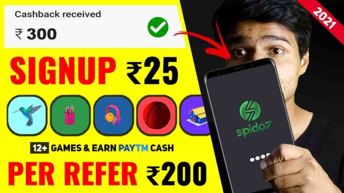 Spido7 Game Is NEW Paytm Earning App 2021 Without Investment | Real Paytm Cash Earning App